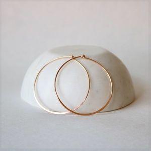 "Jewelry - The Rita Hoops 14K Rose Gold Fill 1.75"""